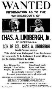 Lindbergh baby poster