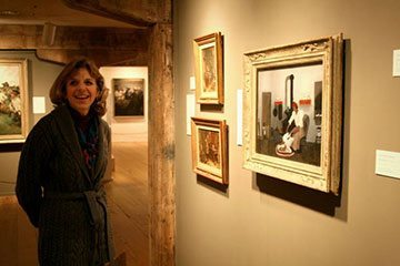 """Author Jen Bryant at BRM with """"Saying Prayers,"""" by Horace Pippin"""