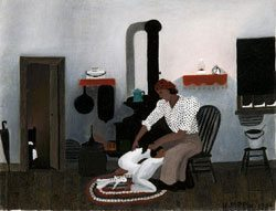 Saying Prayers, by Horace Pippin. Oil on canvas. Courtesy Brandywine River Musuem, Chadds Ford, PA