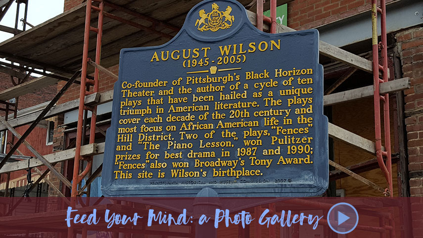 Historical marker in front of August Wilson's childhood home